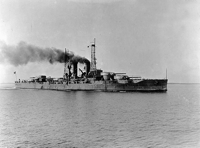 The battleship USS Texas, a veteran of World War I, was stalked by a German U-boat in the Atlantic south of Iceland but zigzagged out of harms way.
