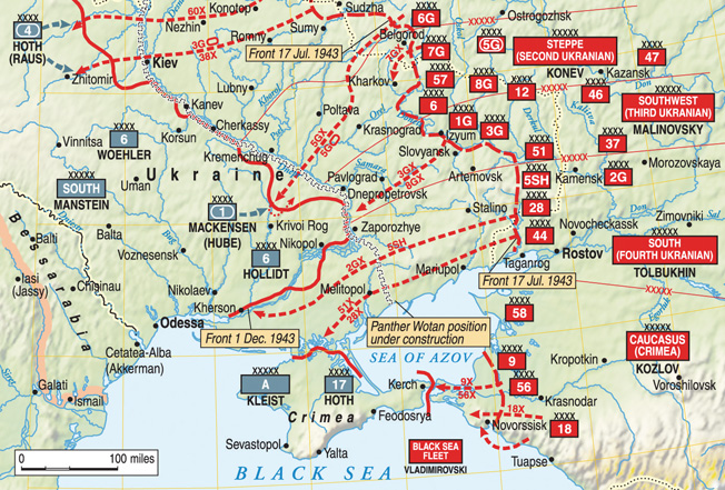 The Soviet Red Army committed substantial forces to a series of bitter battles in order to wrest the rich magnesium mines of Nikopol from the invading Germans.