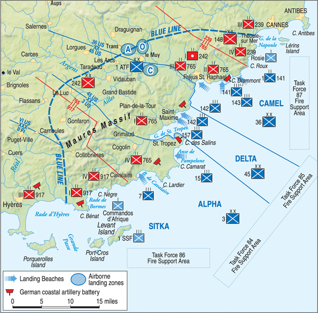On August 15, 1944, the Allied landings in southern France struck near key port cities and areas where planners expected the best opportunities for rapid movement inland.