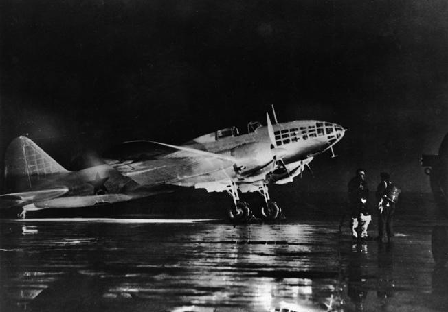 An Ilyushin-41 (Il-4) Soviet twin-engined medium bomber. 1940s.