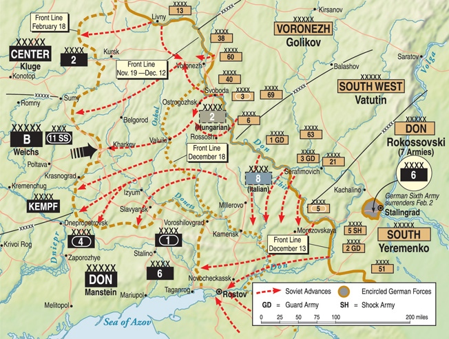 Encouraged by their victory at Stalingrad, the Soviets attempted to free the Lower Don Basin.
