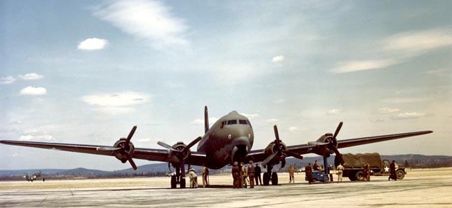 The Douglas C-54 Skkymaster served around the globe during World War II and accelerated the growth of peacetime air travel.