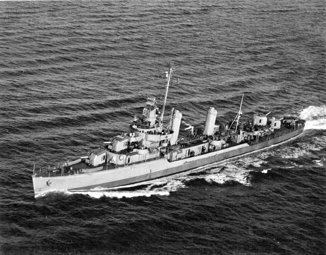 The destroyer USS Murphy survived a collision on the open sea and served during four amphibious operations in the European Theater.