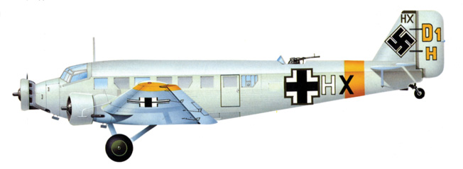 Aircraft such as this Junkers Ju-52/3m were utilized to keep German soldiers supplied on the Eastern Front until their airfields were within range of Red Army artillery fire or overrun by enemy troops.