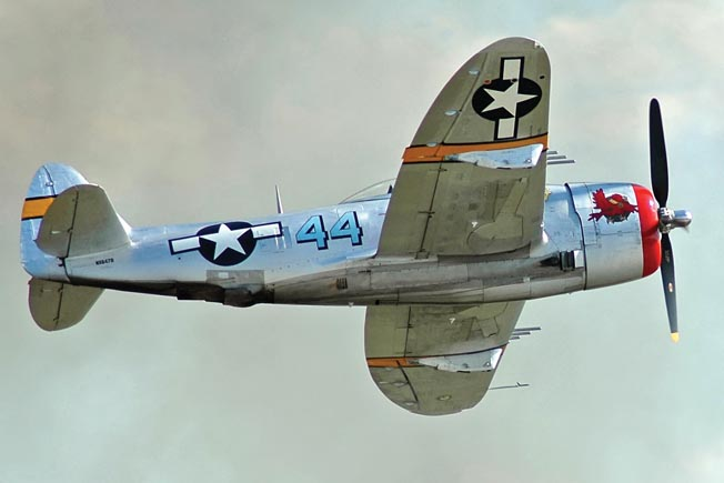Housed at the Tennessee Museum of Aviation in Sevierville, Tennessee, this gleaming P47D-40-RA is nicknamed Wicked Rabbit. The P-47, beloved by its pilots, is an iconic fighter aircraft of World War II.
