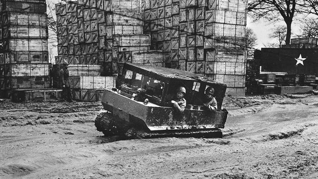 Geoffrey Pyke designed the vehicle that became the U.S. M26 Weasel. Although it was intended for use in snow, it found application on the muddy roads of France.
