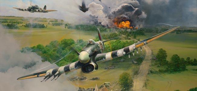 The Hawker Typhoon wreaked havoc on German troops in the deadly pocket in eastern France.