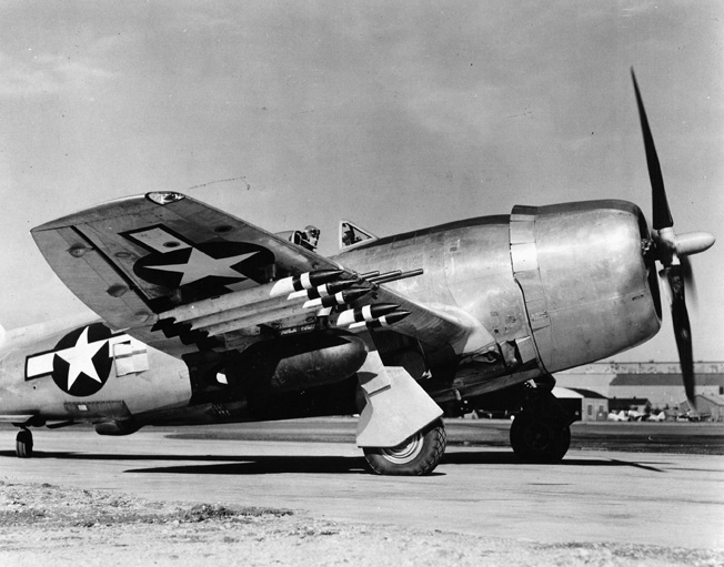 The P-47N, with squared wingtips, was developed by Republic Aviation in cooperation with the Air Technical Service Command. The Design progressed from the drawing board to production in a remarkable 56 days.