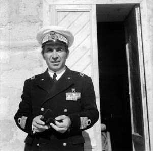 Italian Captain Di Vascello O. Bernadini commanded the Axis garrison at Lampedusa and was taken prisoner when Allied forces landed on Pantelleria.