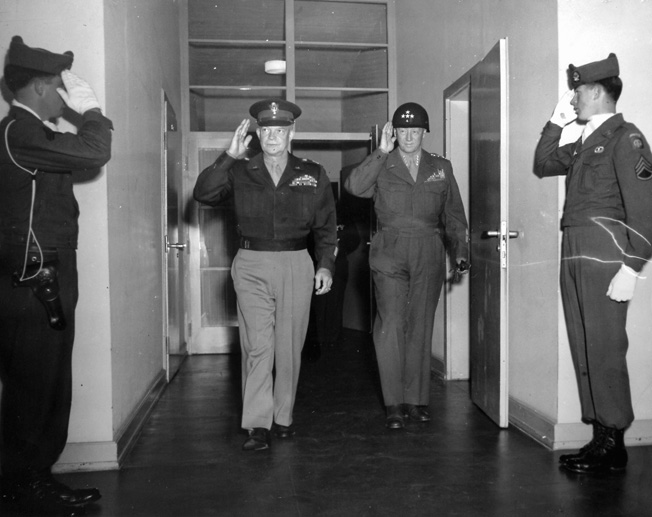 General Eisenhower visited Patton at Bad Tölz and found that Patton had left SS soldiers in charge of concentration camp security. This visit, along with Patton's public statements, led to his dismissal as commander of the Third Army.