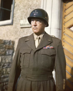 Third Army commander George S. Patton Jr. completed World War II as a four-star general. He began the war wearing two stars.