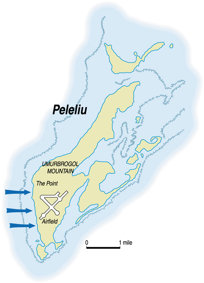 Peleliu's most valuable asset was its airfield. Located at the southern tip of the island, the airfield could accommodate large aircraft that would be vital in future U.S. attacks on Japanese territories.
