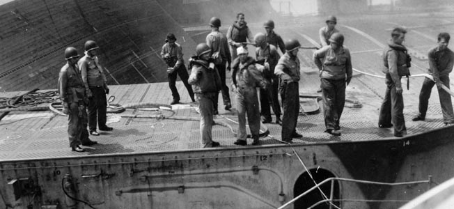 A seaman recalls his harrowing rescue as the light career USS Princeton sank in the Sibuyan Sea doing the Battle of Leyte Gulf.