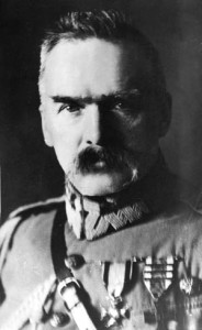 Pilsudski exhibits a fierce countenance in this photo taken in 1916. During World War I, he was taken prisoner by the Germans and held for a number of months.