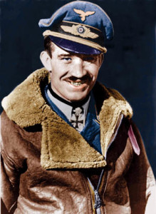 Luftwaffe General of Fighters Adolf Galland was known for his somewhat flamboyant lifestyle. He was one of only a few holders of the Knight's Cross with oak leaves, swords, and diamonds.