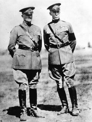 As a young officer with the temporary rank of colonel, Marshall served as an aide to General John J. Pershing in France during World War I.
