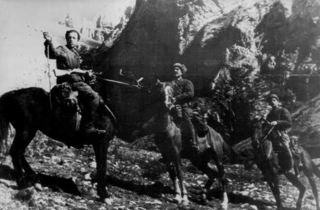 Red Army scouts report the findings of a recent foray to locate the Germans in the northern Caucasus. The Germans were not uniformed against the harsh Russian winter and suffered tremendous casualties as a result