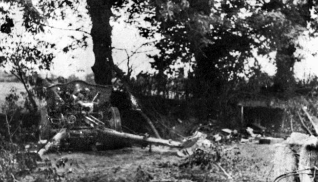 One of the German artillery guns knocked out by Easy Company. Malarkey almost lost his life there trying to retrieve a German Luger pistol.
