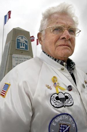 In 2005, Malarkey returned to Utah Beach on one of his many battlefield tours.
