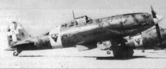 The Italian Macchi 202 Folgore (Thunderbolt) was a high-performance aircraft that was respected by Allied pilots in the Mediterranean. The Folgore was armed with 12.7mm and 7.7mm machine guns.