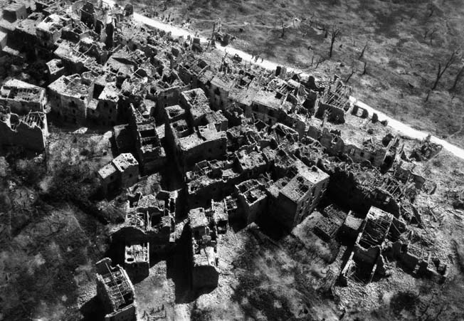 The village of Santa Maria Infante was destroyed during heavy fighting on May 17, 1944.