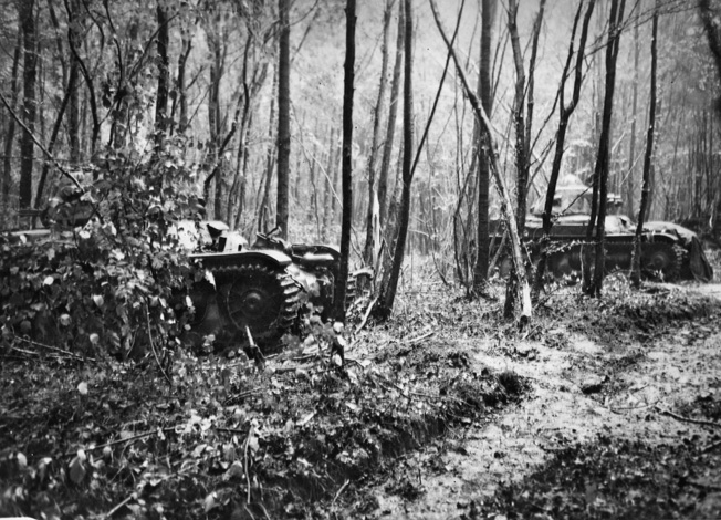 French armor pulled out of their positions near the Meuse River, when Rommel poured small-arms fire on them.