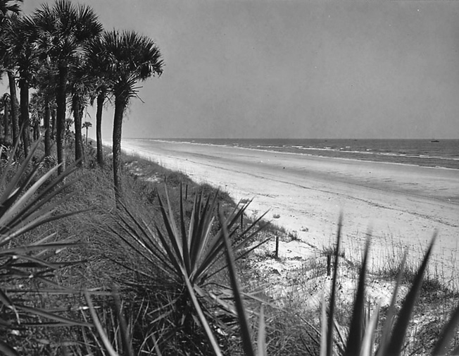 The empty beach at Ponte Vedra, Florida, was the location where German saboteurs led by Edward Kerling wwere put ashore by the submarine U-584. This stretch of coastline was essentially unpatrolled, and the Germans were not detected there.
