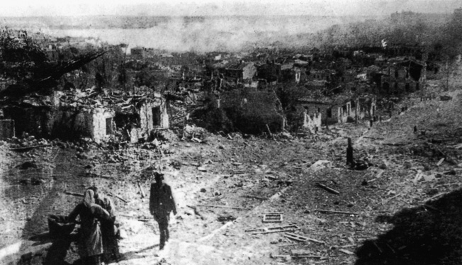 The Germans took control of Sevastopol on July 1, 1942 after heavy bombardments reduced the city to little more than a pile of rubble.