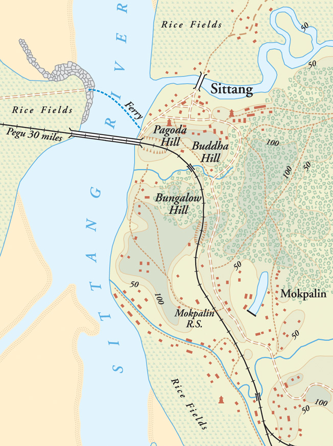 The difficult terrain of the Sittang River valley contributed to the obstacles in transportation and communication experienced by the Commonwealth troops as they attempted to cross the stream. The 17th Indian Division paid dearly for command and logistic failures.