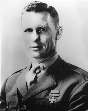 A company commander in the U.S. Marine Corps, Jack Lummus was killed on Iwo Jima. Lummus had played baseball and football at Baylor University and with the New York Giants of the NFL.