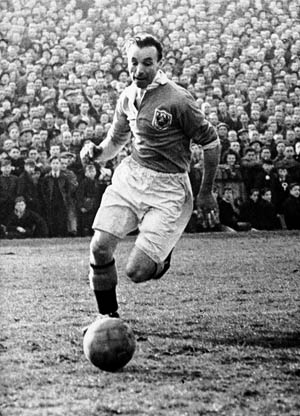 British soccer star Stanley Matthews volunteered for service with the Royal Air Force shortly after war was declared. Matthews played for Stoke City and Blackpool and for England's national team. He was considered one of the greatest soccer players of all time.