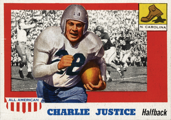 Professional football player Charlie Justice played with other players who had experience as pros while serving in the U.S. Navy at Port Deposit, Maryland.