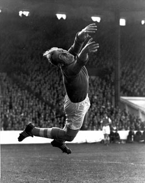 German goalkeeper Bernhard Trautmann served with the Luftwaffe and was captured and sent to a prison camp in England. After the war, he remained in England and was signed to play professional soccer with the Manchester City team. The signing of Trautmann was controversial.