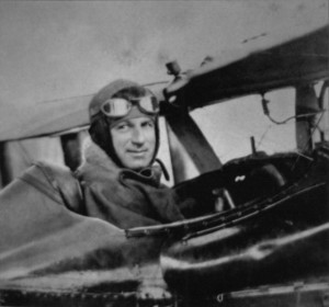General Billy Mitchell, a tireless advocate of air power, championed his cause to the end and was courtmartialed for his zeal. He is shown in the cockpit of an aircraft in France.