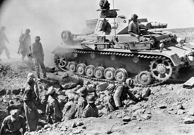 The Australian 9th Division defeated the Africa Korps at the Libyan port city on April 13-14, 1941.