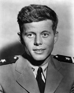 John F. Kennedy in uniform.