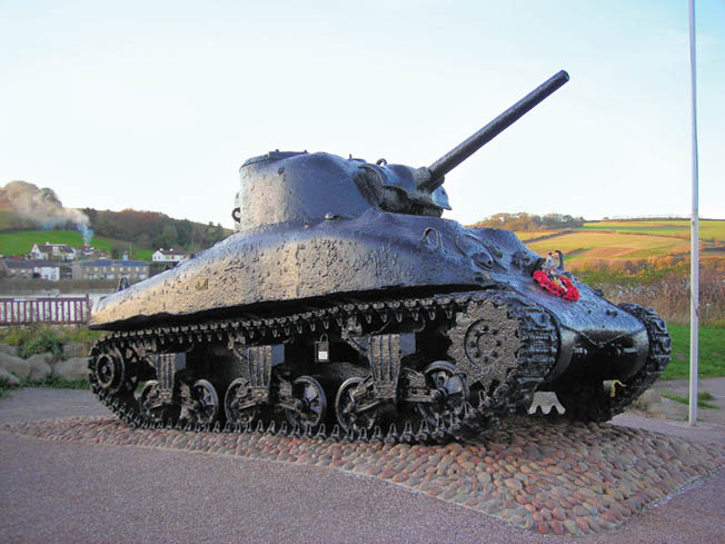 Briton Ken Small raised this Sherman tank from its watery grave at Slapton Sands and declared it a memorial to those soldiers who lost their lives during Operation Tiger.