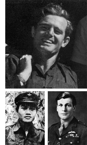 TOP: Major John Davis, a member of the Special Operations Executive's Force 136, played an integral role in establishing cooperation between the diverse forces that fought the Japanese in Malaya. ABOVE: Chin Peng, left, led communist forces against the Japanese in Malaya while Freddie Spencer Chapman, right, endured a lengthy ordeal leading elements of the British covert resistance on the peninsula.