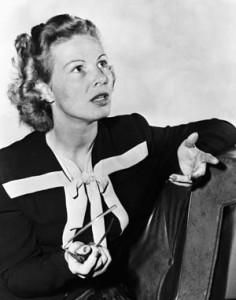 09 Jun 1945, Los Angeles, California, USA --- 6/9/1945-Los Angeles, CA- Inga Arvad, film writer, announces end of engagement to Robert Boothby, member of Parliament, because she declares she loves him too much to have political foes capitalize on her interview with Hitler years ago when she was living in Denmark. --- Image by © Bettmann/CORBIS