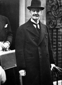 British Prime Minister Neville Chamberlain bargained away the sovereignty of Czechoslovakia at Munich in exchange for the hollow promise of peace from Hitler and the Nazis.