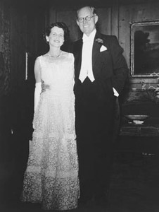 Joseph P. Kennedy, Seen here with his wife Rose, served as U.S. ambassador to Great Britain and ruined his political career by opposing FDR's perspective on war with Germany. (National Archives)
