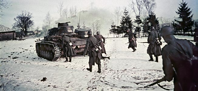 Hitlers 1941 invasion of the Soviet Union nearly succeeded until a counterattack, combined with a brutal winter led to ultimate victory for the USSR.