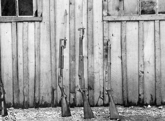 The hard-pressed U.S. Army converted the British Pattern 14 Rifle into a new battle weapon, the U.S. Rifle Model 1917, in World War I.