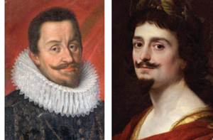 Holy Roman Emperor Ferdinand II (left), King Frederick V