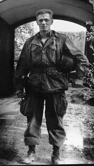Major Dick Winters, photographed in Holland during Operation Market Garden.