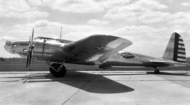 "Before and After: Boeing XB-17, Model 299, the prototype for the B-17, crashed at Wright Field, Ohio, on October 30, 1935, killing the pilot and co-pilot due to a ground crewman's error. Despte the accident, the government awarded Boeing a contract to start mass producing the ""Flying Fortress."""