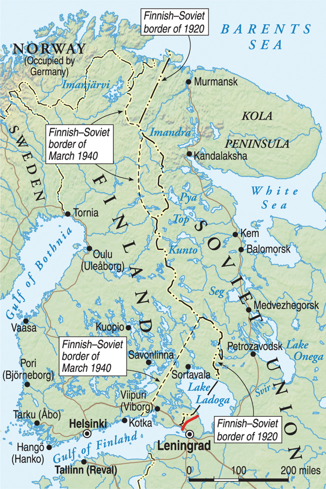 With the aid of the Germans, Finland expelled the Russians at the end of the 1918 Finnish Civil War. The Soviets were back in 1939, and the Finns allied with the Germans again.