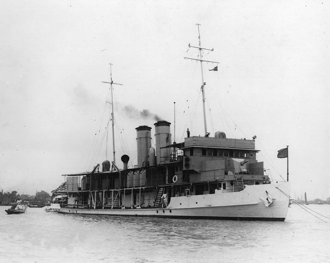 The Panay, a U.S. Navy gunboat, was attacked by Japanese Navy aircraft while cruising in the Yangtze River near Nanking, December 12, 1937.