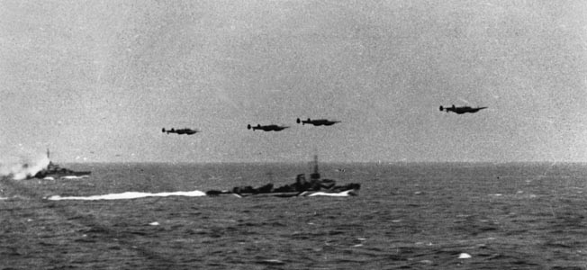 Operation Cerberus, the Channel dash by Nazi warships through the English Channel in February 1942, embarrassed the British Royal Navy, which mounted only feeble attempts to challenge the movement. Scharnhorst was one of several German warships that took part in the dash to safe ports in northern Germany, accompanied by an aerial escort of Luftwaffe planes.