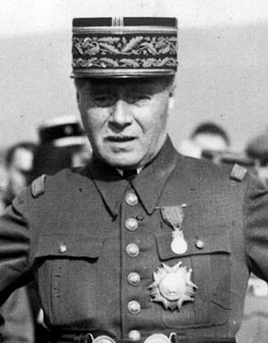 French commander-in-chief General Maurice Gamelin.